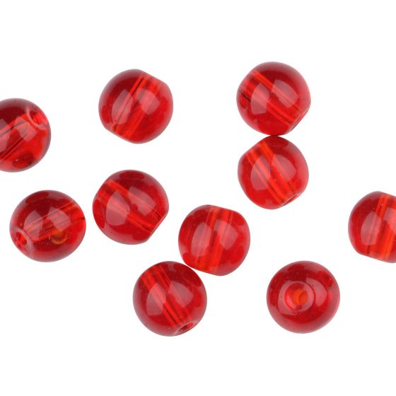 SPRO RND GLASS BEADS RED RUBY 4MM
