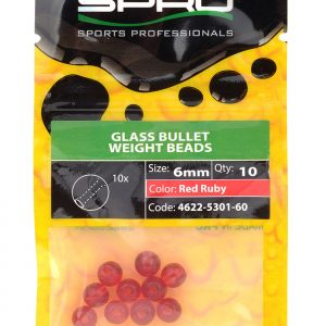 SPRO RND GLASS BEADS RED RUBY 6MM