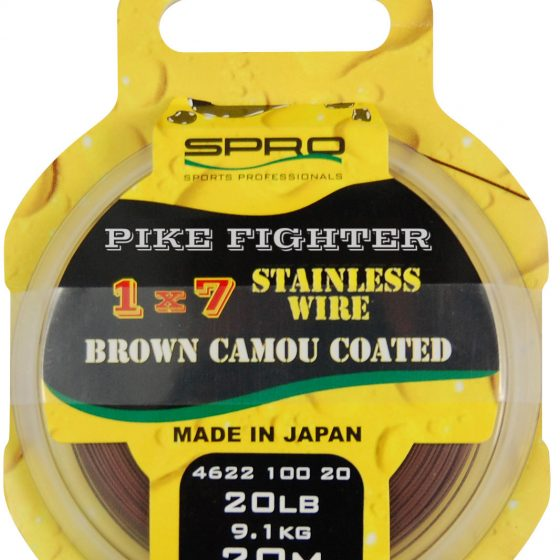 SPRO 1X7 BROWN COATED WIRE 40LB 20M