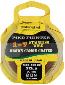 1X7 BROWN COATED WIRE 20LB 20M