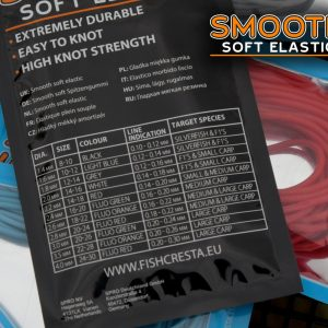 SMOOTH SOFT ELASTIC FLUO RED 4.0MM 3M