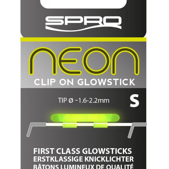 NEON CLIP ON GLOWSTICK GREEN SMALL