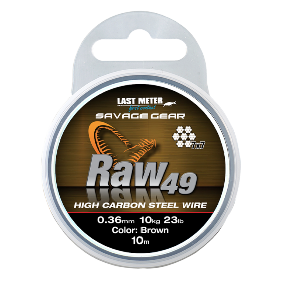 SG Raw49 0.36mm 11kg uncoated brown 10m